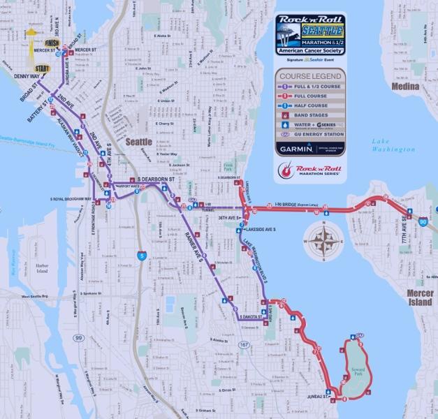 Race Recap: Rock \'n\' Roll Seattle Half Marathon 2012 | sarahthefitfoodie
